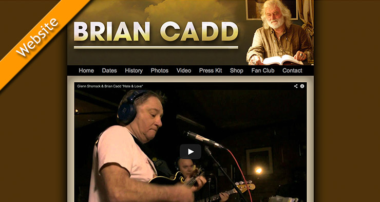 Brian Cadd Website Design