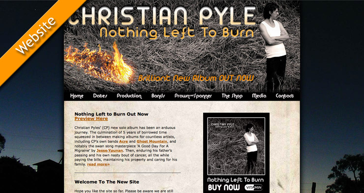 Christian Pyle Website Design