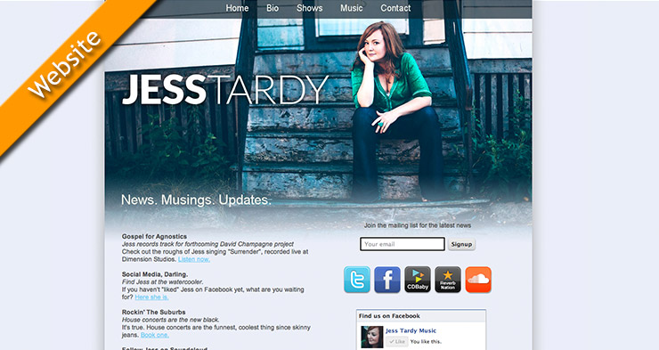 Jess Tardy Website