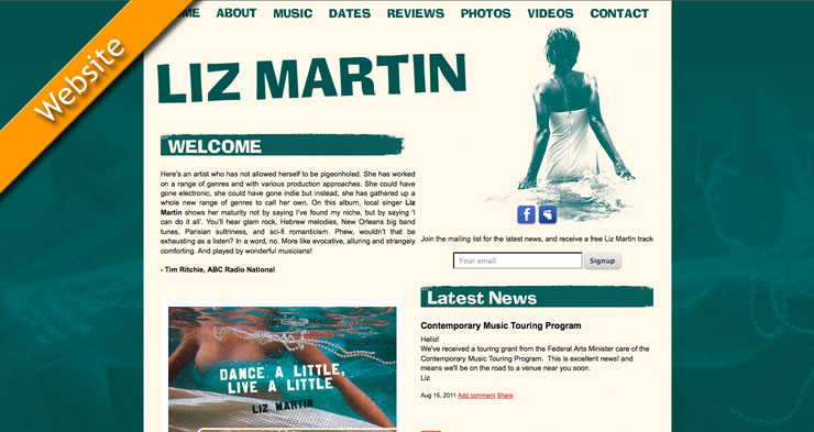 Liz Martin Website