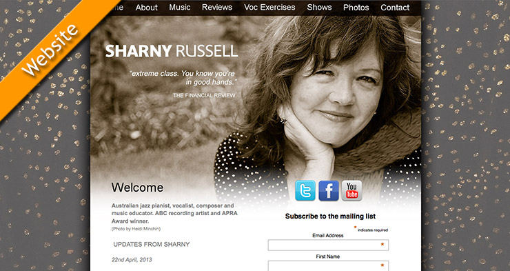 Sharny Russell Website