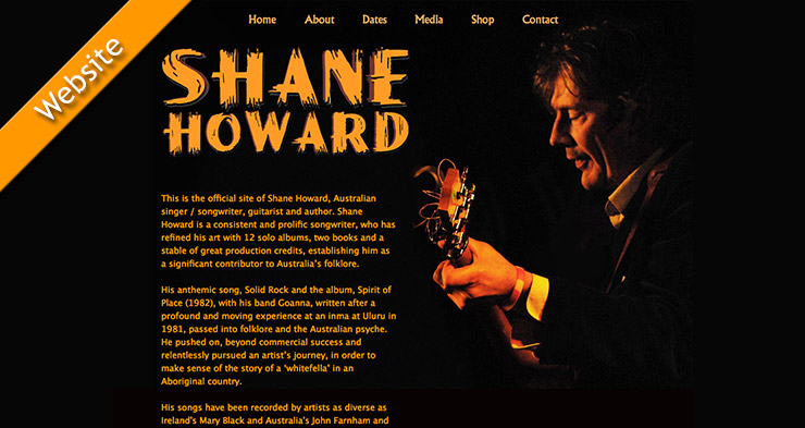 Shane Howard Website