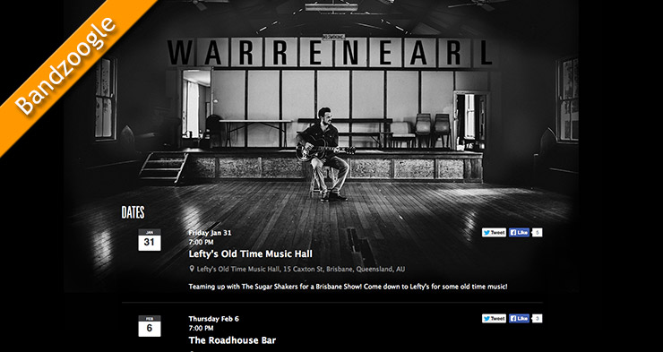 Warren Earl Band Website